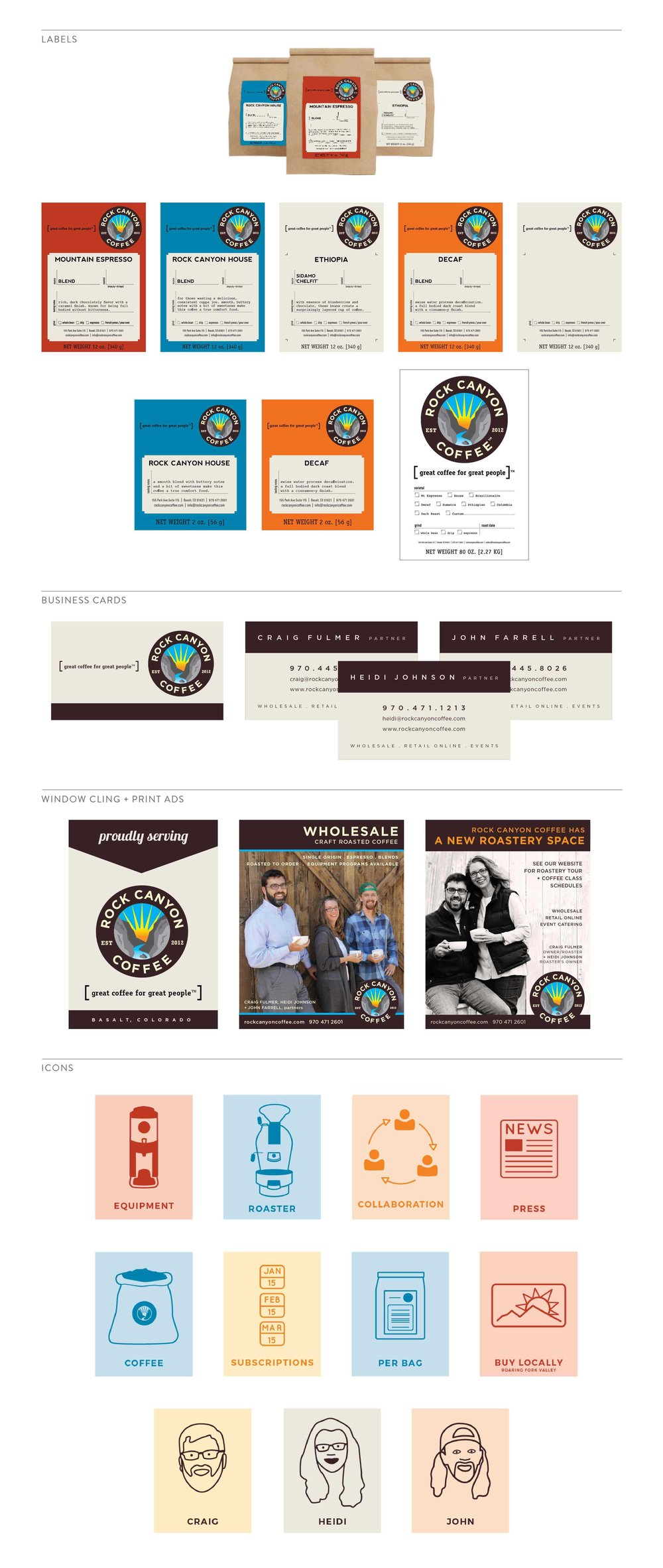 Rock Canyon Collateral design by The Qurious Effect, brand and Squarespace web designer