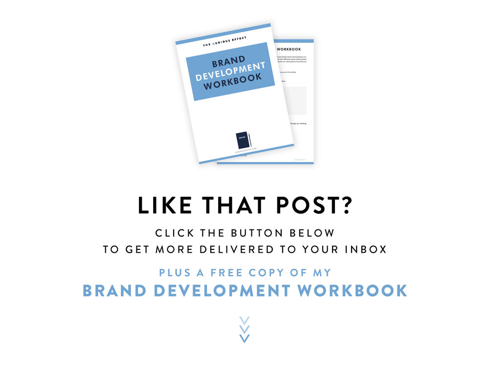 Get your free brand development workbook from The Qurious Effect | Squarespace Web Designer