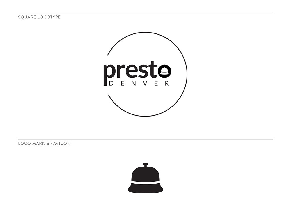 Presto Denver Secondary Logo and Mark by The Qurious Effect. A brand and Squarespace website designer.