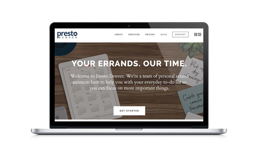 Presto Denver Squarespace Website Design by The Qurious Effect