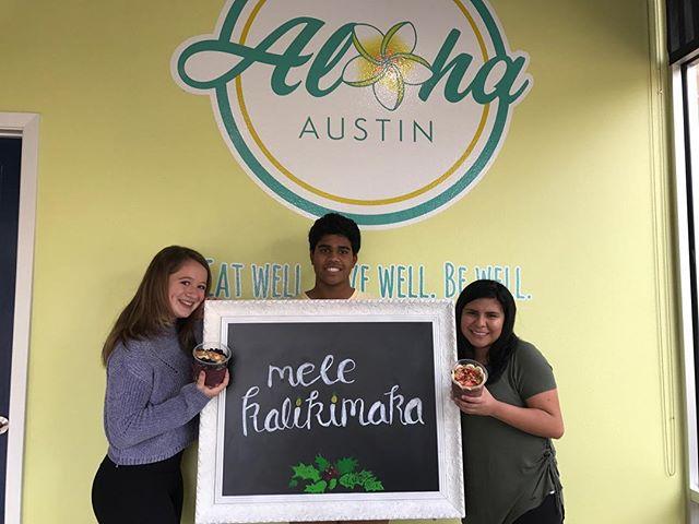 At Aloha Austin, this is how we say Merry Christmas - Mele Kalikimaka ! • • •  #eatalohaaustin #alohaaustin #austineats #lakewaytx #eatwell #livewell #bewell  #vegan #do512 #austin360eats