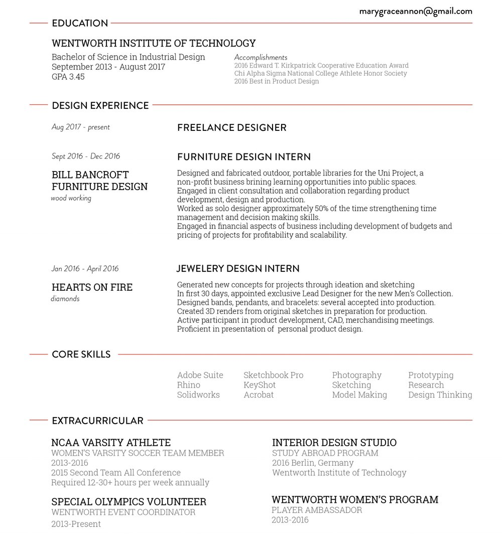 Industrial Design Resume | Cover Letter
