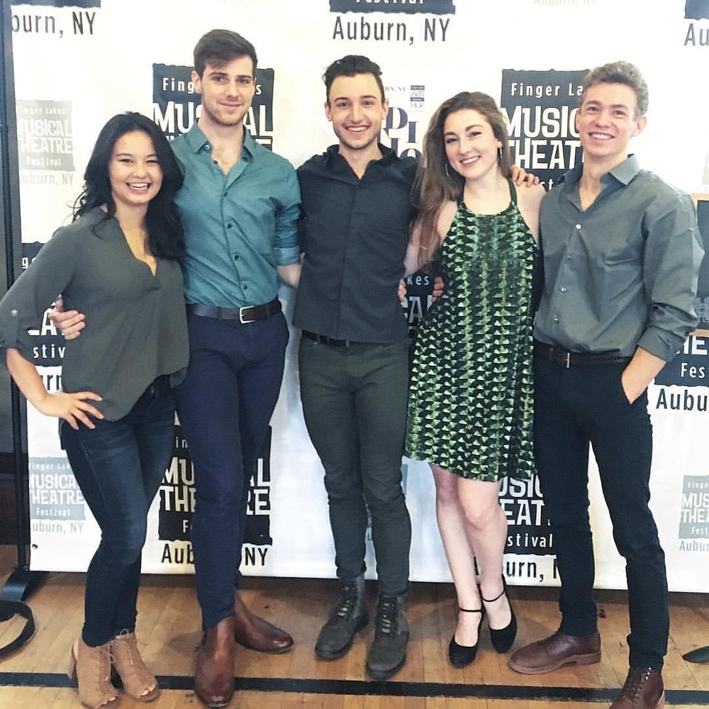 Connor and his castmates from Clear Space Rep in Rehoboth Beach DE