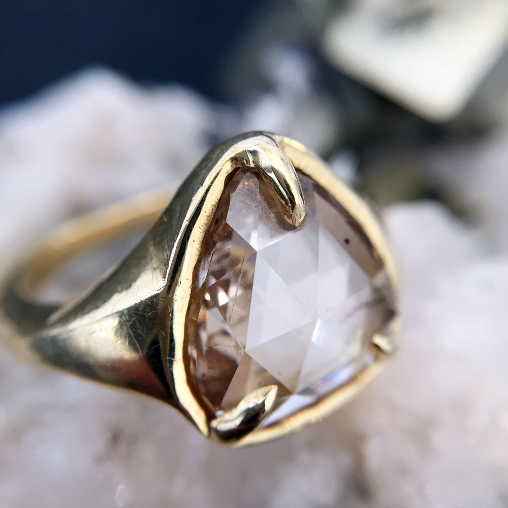 CHAMPAGNE DIAMOND RING Lauren Wolf Jewelry