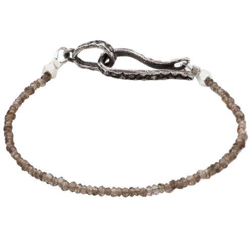 Single Strand Smoky Quartz Lauren Wolf Jewelry