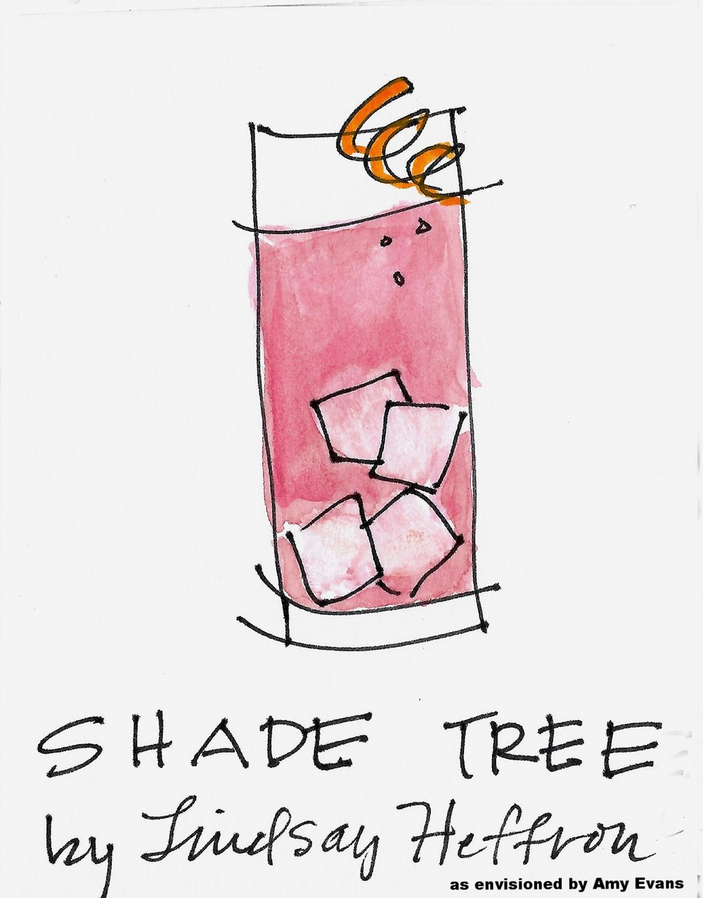 SHADE TREE drawing by Amy C Evans.jpg