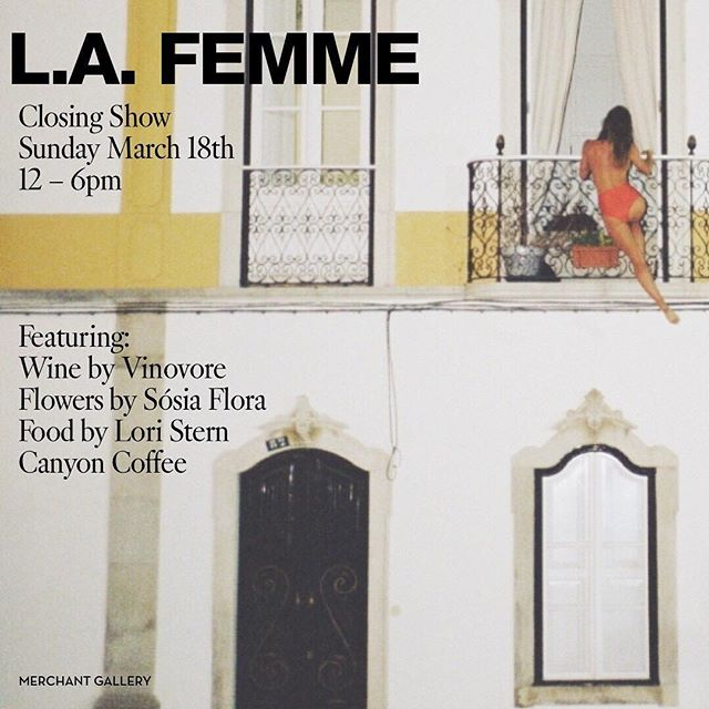 ATTN WESTSIDERS!!! We are pouring today from 12-6pm at the  closing day of the L.A. FEMME show at @merchantgallery. We are here alongside some amazing partners, including @sosiaflora, @canyoncoffee & @loriastern