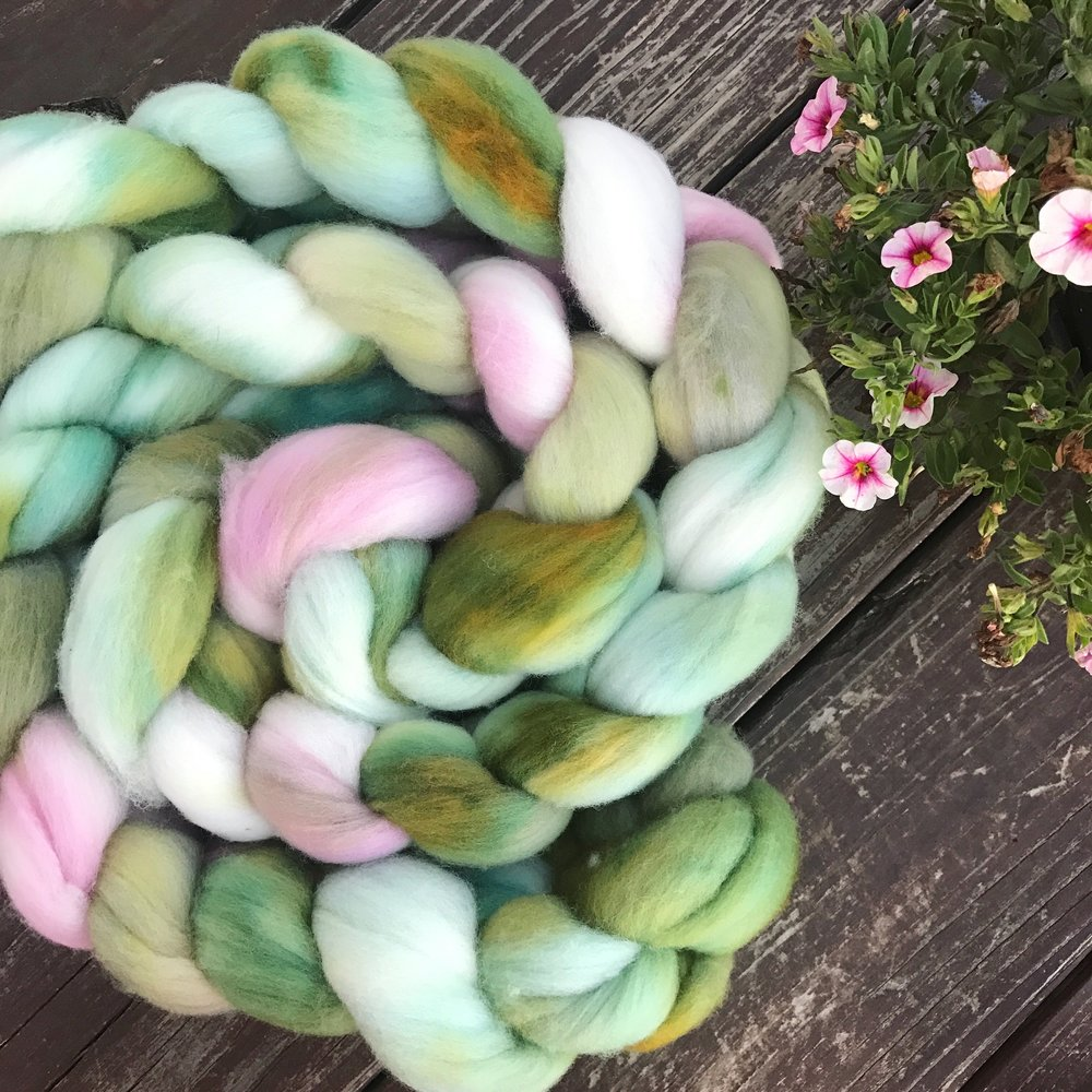 "Two recently dyed braids - ""Blossom"""