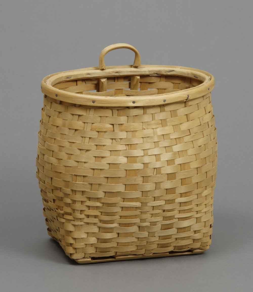 Passamaquoddy (Wabanaki), basket, about 1960. Wood and steel nails, 14 × 12 3/16 in.   Hood Museum of Art, Dartmouth College: Museum Purchase; 160.35.14544.