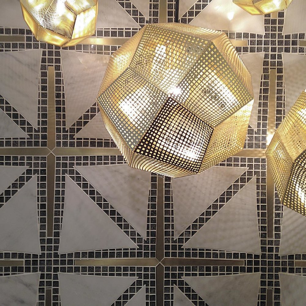 Port & Quarter - Custom Marble/Brass Tiles