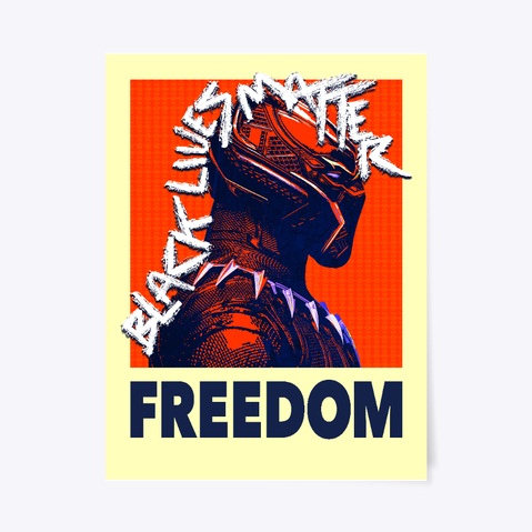 Black Panther Freedom Poster