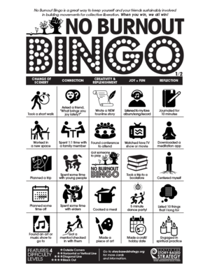 No burnout bingo center for story based strategy no burnout bingo solutioingenieria Image collections