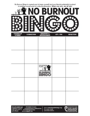 No burnout bingo center for story based strategy noburnoutbingoenglish3g solutioingenieria Image collections