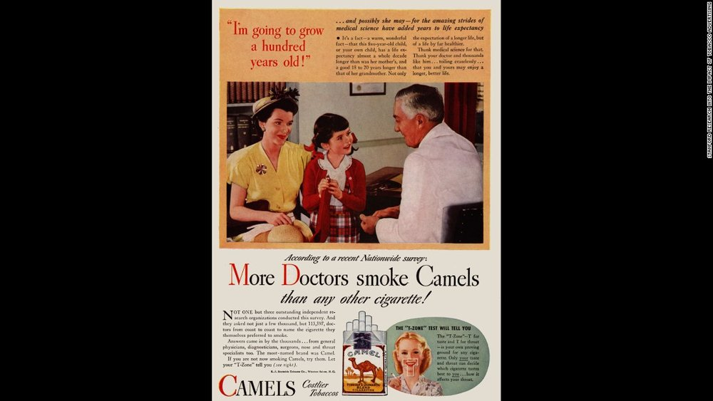View more images at: http://www.cnn.com/2017/05/24/health/gallery/tobacco-health-claims-history/index.html