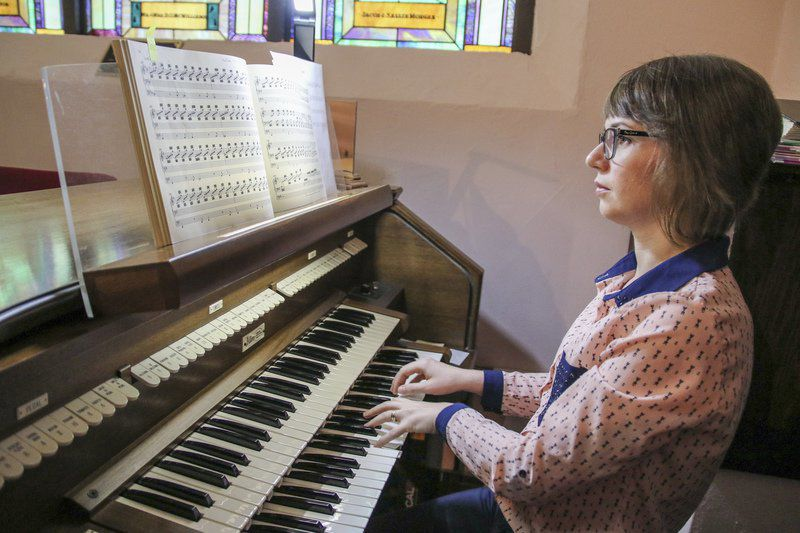 Paula Merritt / The Meridian Star  Teodora Mitze-Circiumaru, a native of Romania, met her husband, Levi, while they were students at Mercer College in Georgia. They moved to Meridian this summer so Levi could teach at Meridian High School. Teodora uses her music skills as an organist at First Christian Church in Meridian.