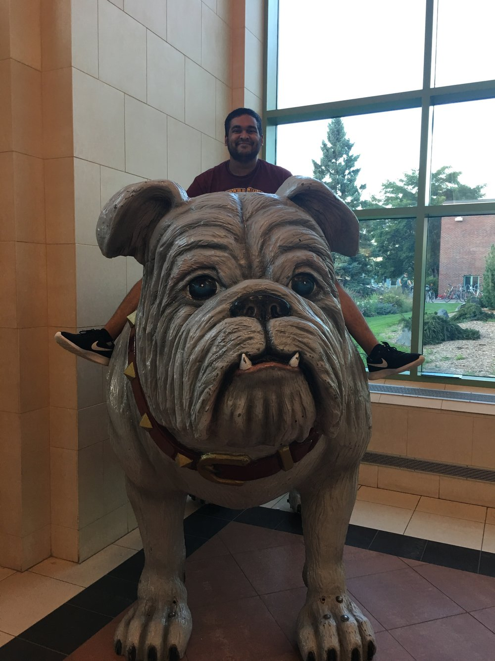 Bhakta showing his bulldog spirit - Credit: Isaac Wolf