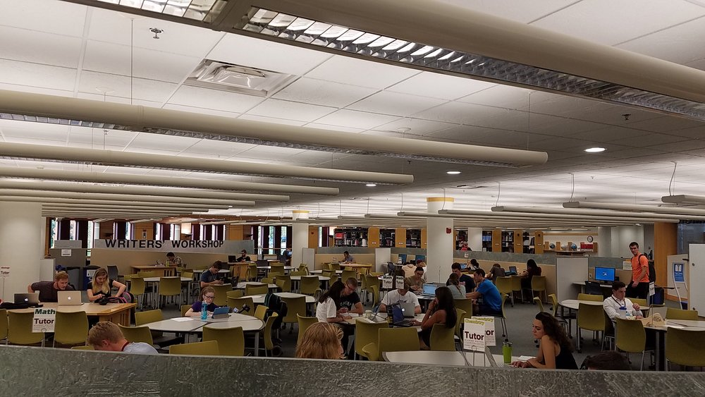 The tutoring center tends to be the busiest in the afternoon as classes are getting out. Photo by Tyler Schendel.