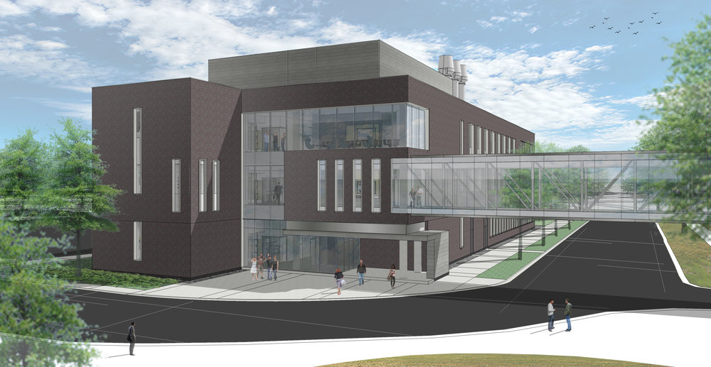 A future view of the CAMS Building from the north. Source: BWBR Architects, Inc.