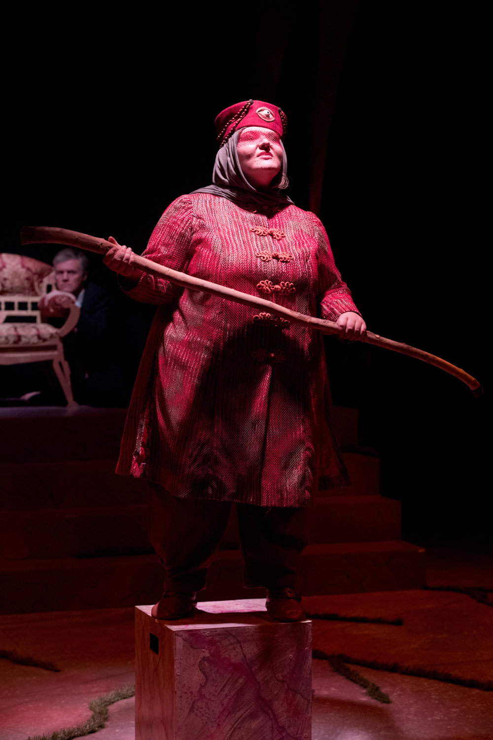 Teiresias in Antigone. Photo Courtesy of Brett Groehler.