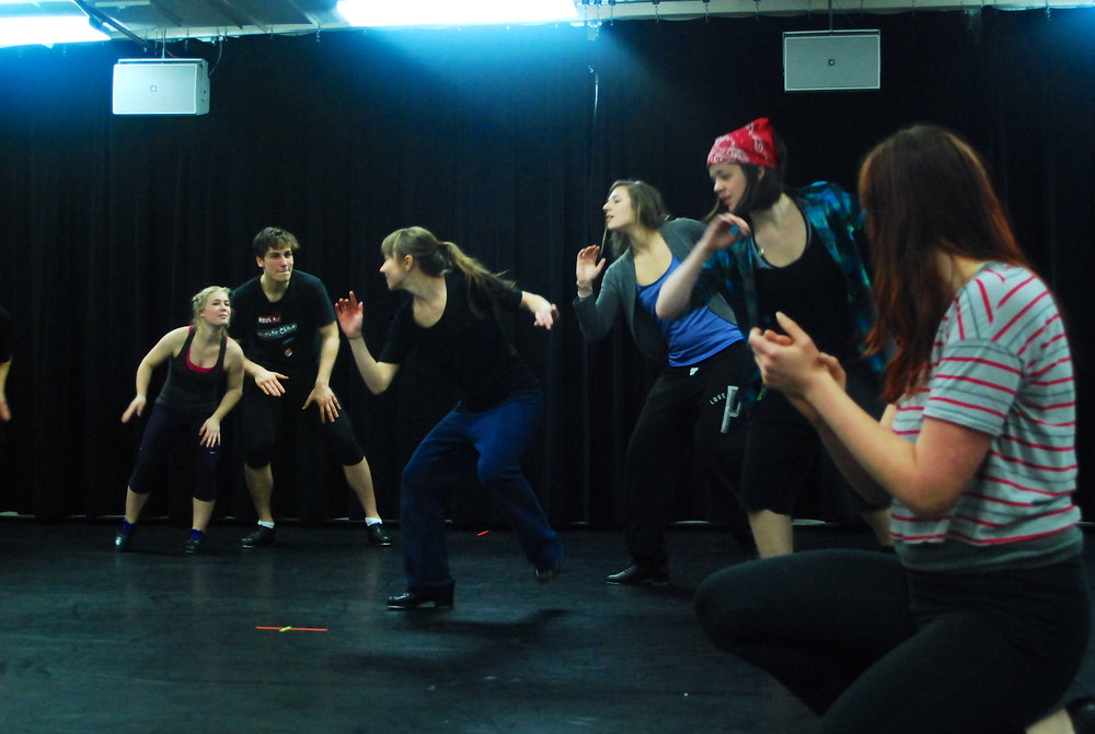 Dance rehearsals for a past dance concert. Photo Courtesy of Rebecca Katz Harwood