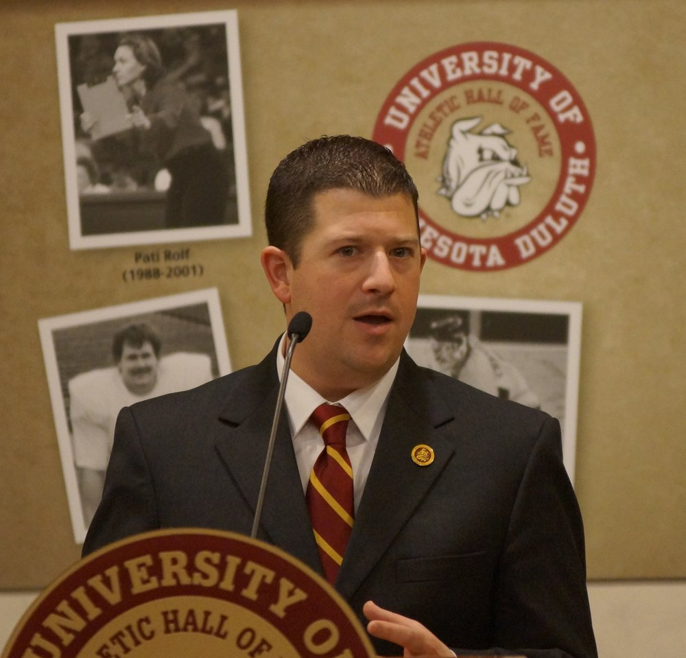 UMD Athletic Director Josh Berlo will highlight community engagement in UMD athletics and the value of sports in society. Photo by Ken Moran.