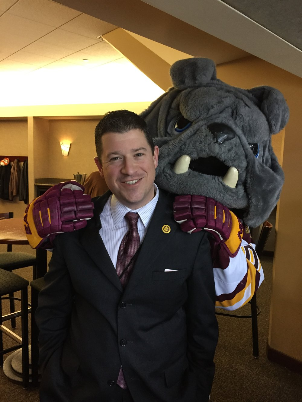 Josh Berlo is entering his fifth season as athletic director at UMD in 2017-18. Photo by Mary Ellen Polak