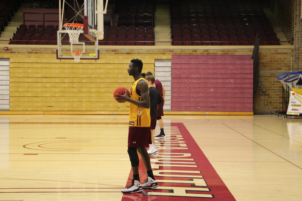 After spending two seasons with the Anoka-Ramsey Golden Rams, Mamadou Ngom looks to help guide the Bulldogs to the top of the NSIC standings. Photo by: Ryan DePauw