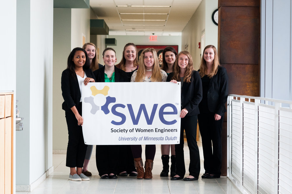 UMD's SWE section was recognized for its outreach efforts and how well it conformed to SWE's core values. Photo by Alex Ganeev.