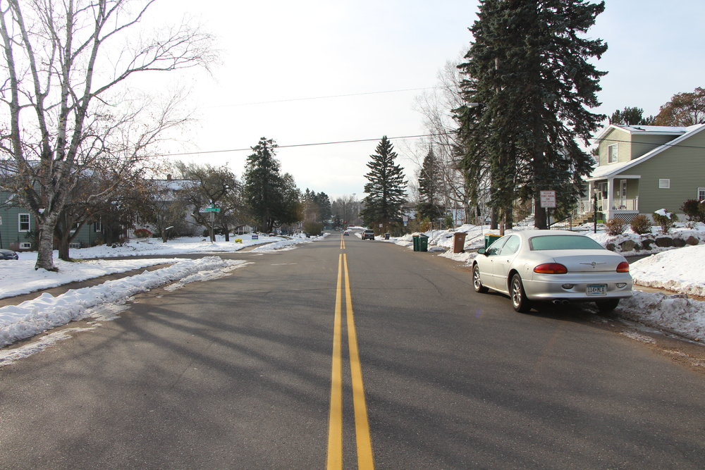 Carver Ave. is lined by various student rental properties mixed with residential homeowners. Photo courtesy of Conor Shea