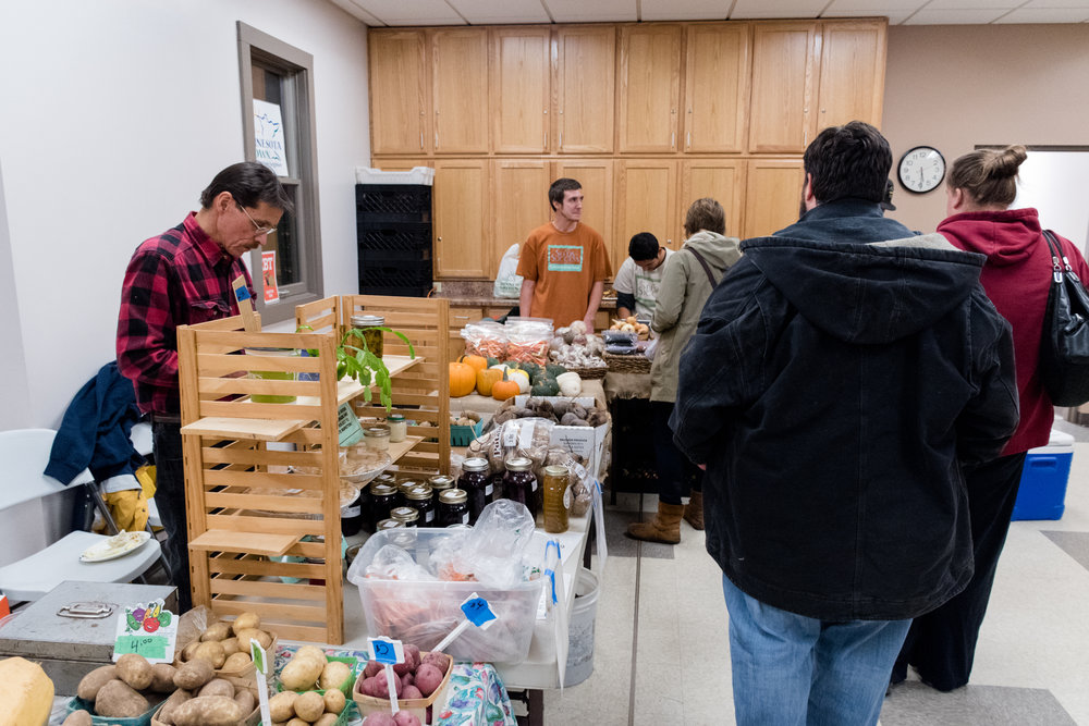 Community Action Duluth celebrated the grand opening of its Lincoln Park winter market on Nov. 16. Photo by Alex Ganeev.
