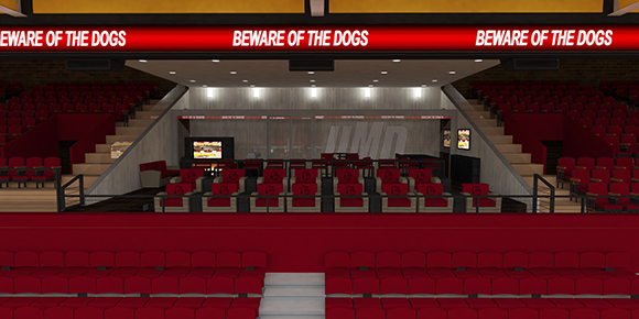 Phase Three of the renovation will include club seating. Courtesy of UMD Athletics.
