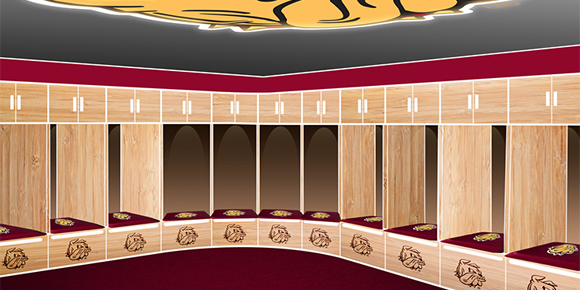 Student athletes will have access to upgraded locker rooms following the completion of the renovations. Courtesy of UMD Athletics.