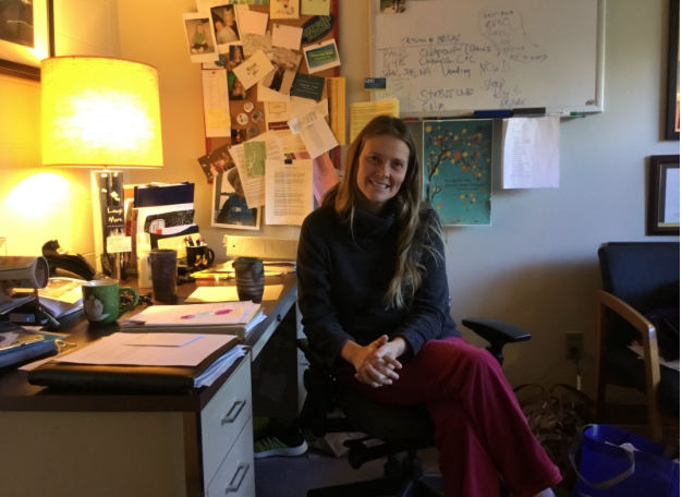 Dori Decker in her office at Health Services. Photo courtesy of Hannah Cornish