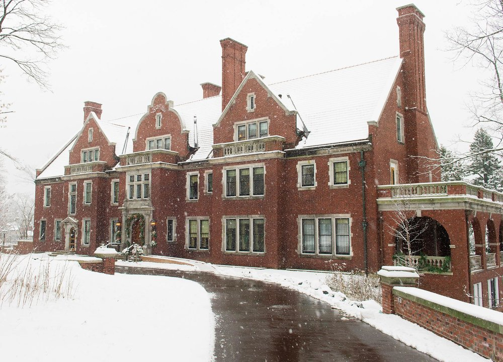 The Historic Glensheen Estate, operated by UMD. Photo courtesy of Duluth Winter Village.