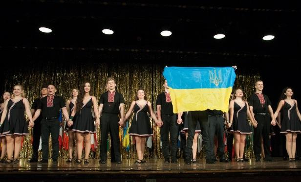 My high school had a variety of different ethnic clubs and I was a member of the Ukrainian club. This photo was taken during one of our Ukrainian dance performances in 2014. Photo courtesy of Hrystyna Bobel.