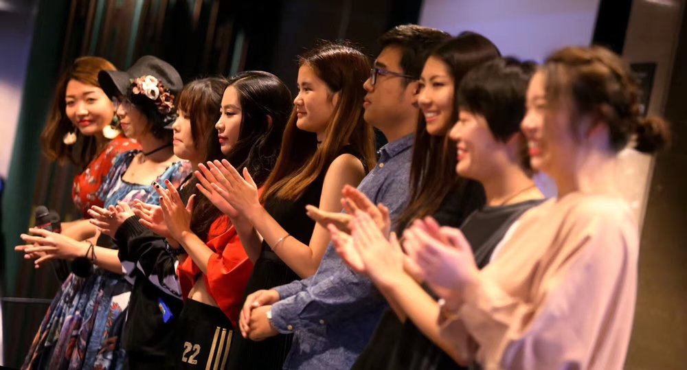 Mori, first on the right, at a Chinese Student and Scholar Association event. Photo courtesy of CSSA.