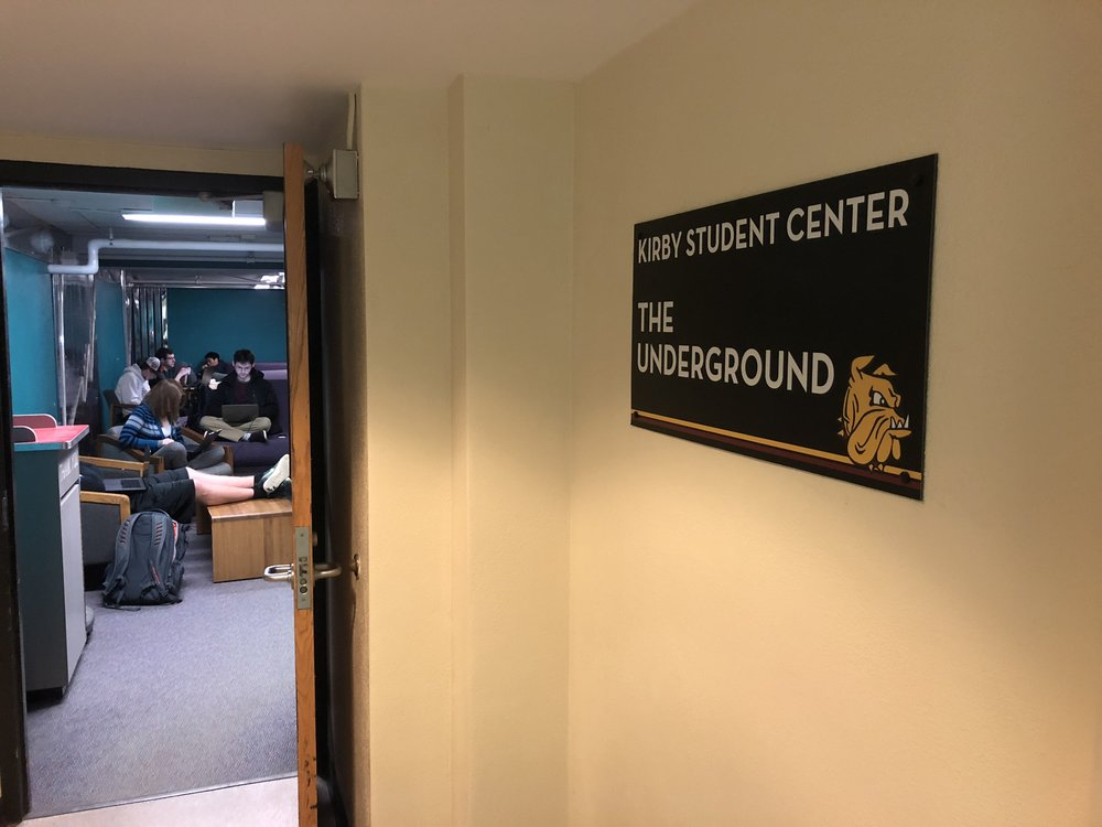 The Kirby Underground is located directly beneath the Kirby Student Center.  Photo: Connor Shea