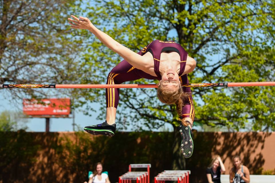 Hesse has competed for the UMD track and field team through her entire college career. Photo courtesy of Michaela Hesse.