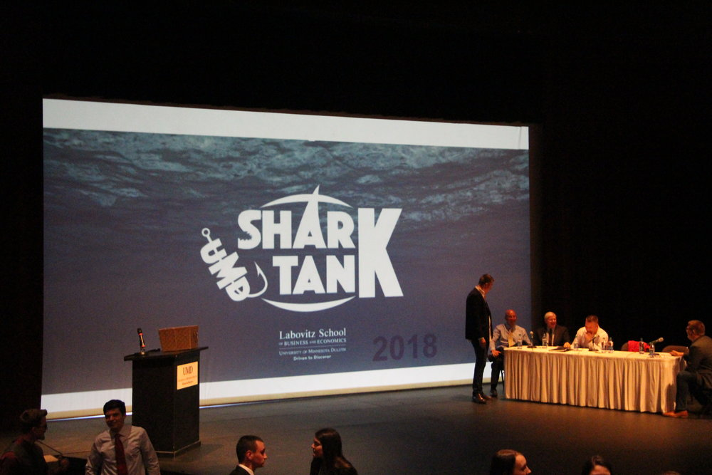 This was the third annual UMD Shark Tank Competition, based on the popular television series. Photo by Tyler Schendel.