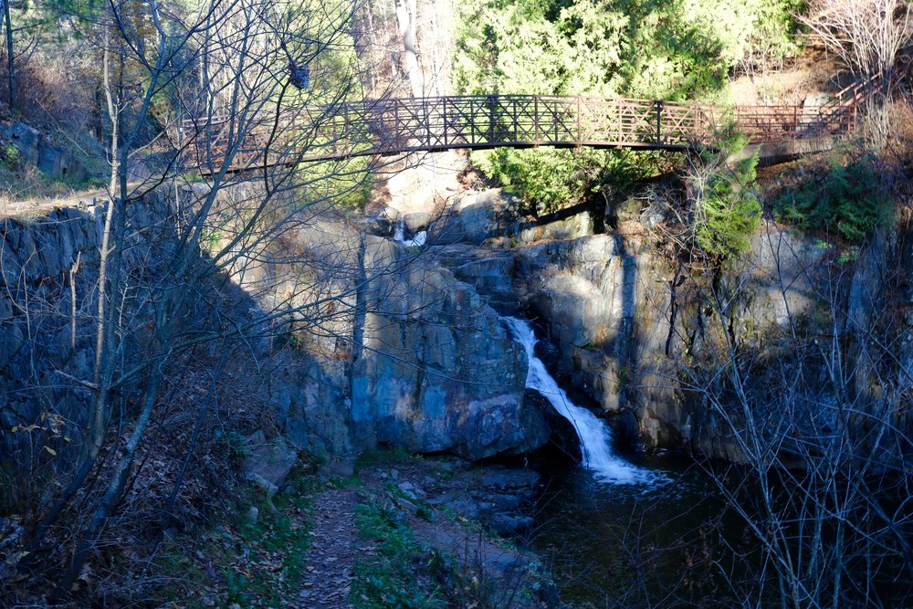 There are two trails that continue along by the creek, and hikers can cross over the bridge to gain new perspectives of the park, such as this one on Nov. 4, 2016. Picture by Brianna Taggart