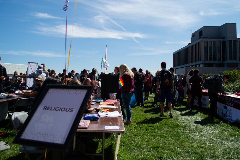 Over 120 club and organizations were organized by various categories. Photo by Jake Barnard