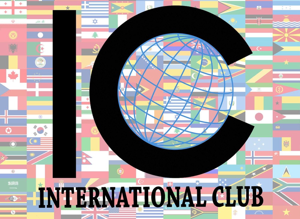 The new International Club logo designed by Manjul Sharma, Vivian Phan, and Alvaro Velasquez was presented at the welcome dinner Friday, Sept. 14. Photo courtesy of Michelle Quach
