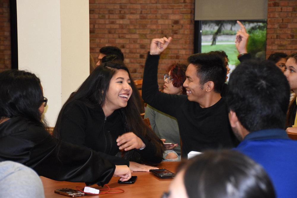 UMD Students Karla Garcia and Tien Nguyen. Photo by Trinh Tran