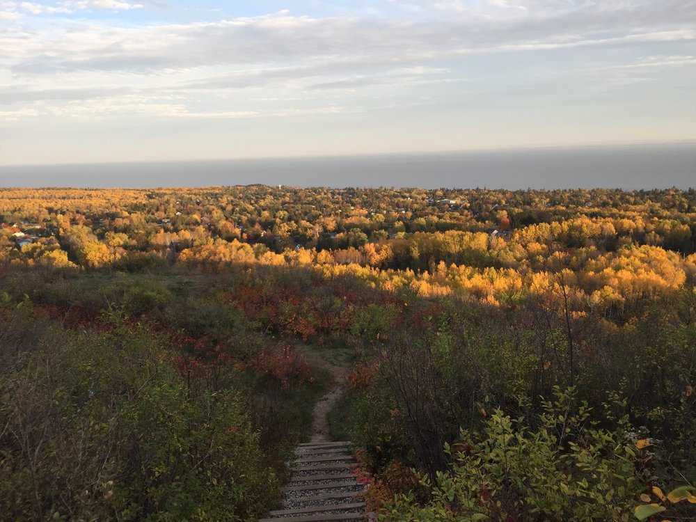 Hawk Ridge overlooking Lake Superior during the changing of the seasons. Photo by: Natalie Grant.