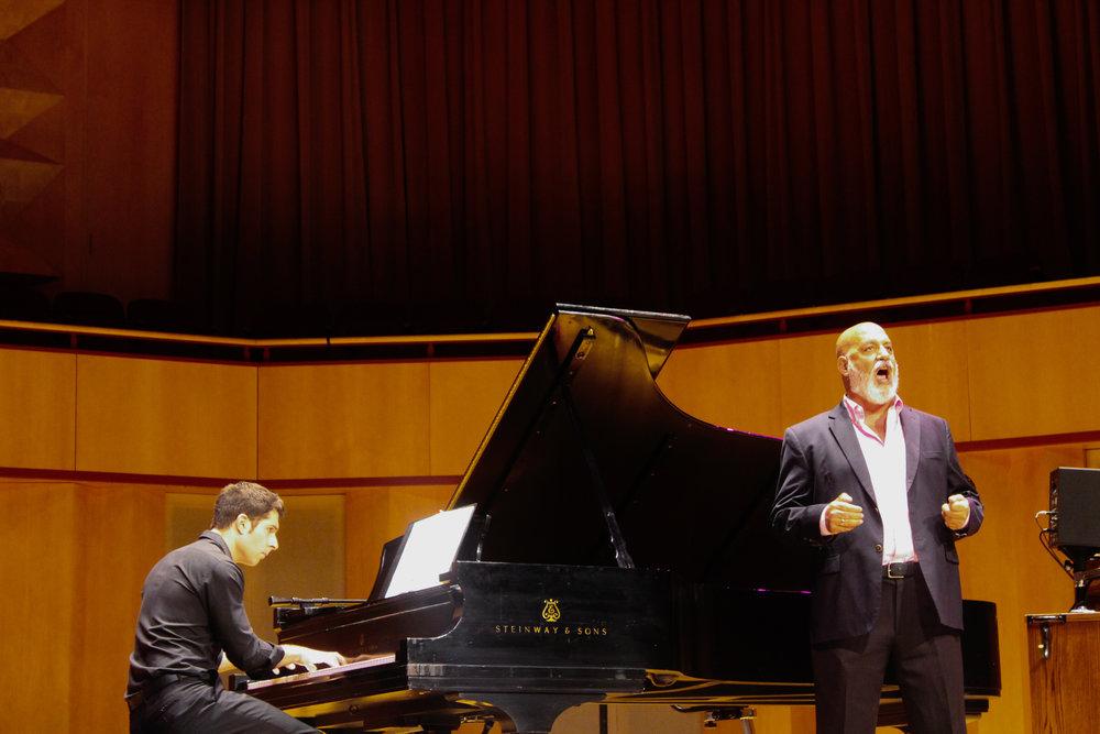 Nicholas Susi (Left) and Elias Mokole (Right) perform. Photo by Morgan Pint