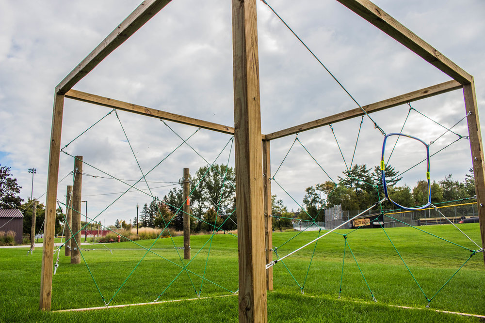 One of the obstacles that can be found on the challenge course. Photo courtesy of Justin Flesher.