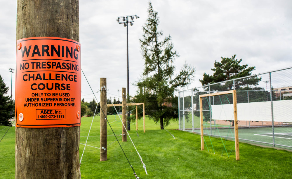 UMD challenge course, located behind the tennis courts. Photo courtesy of Justin Flesher.