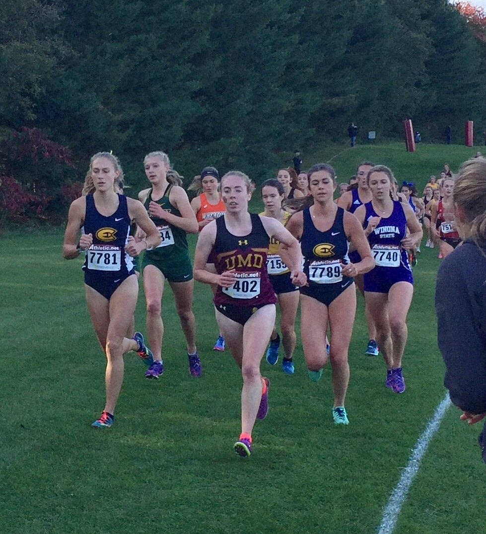 Radel is in the forefront during a race. Photo courtesy of Morgan Radel
