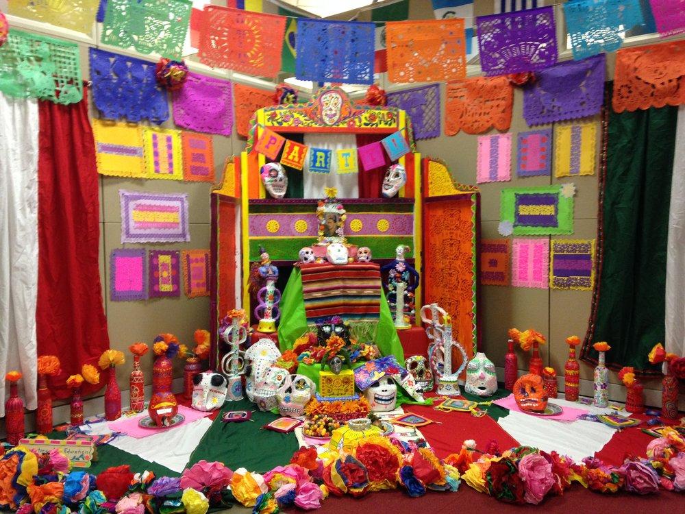 Last year's art education ofrenda. Photo courtesy of Susanna Pelayo-Woodward and Alison Aune