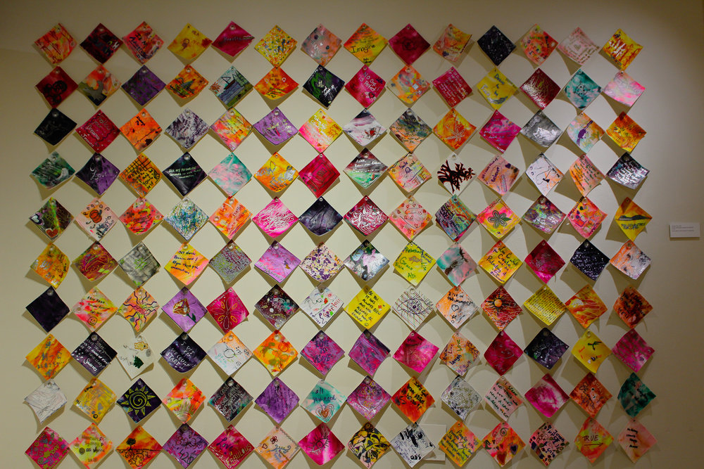 Tiles made from participants in Thunder Bay, Canada. Photo by Morgan Pint